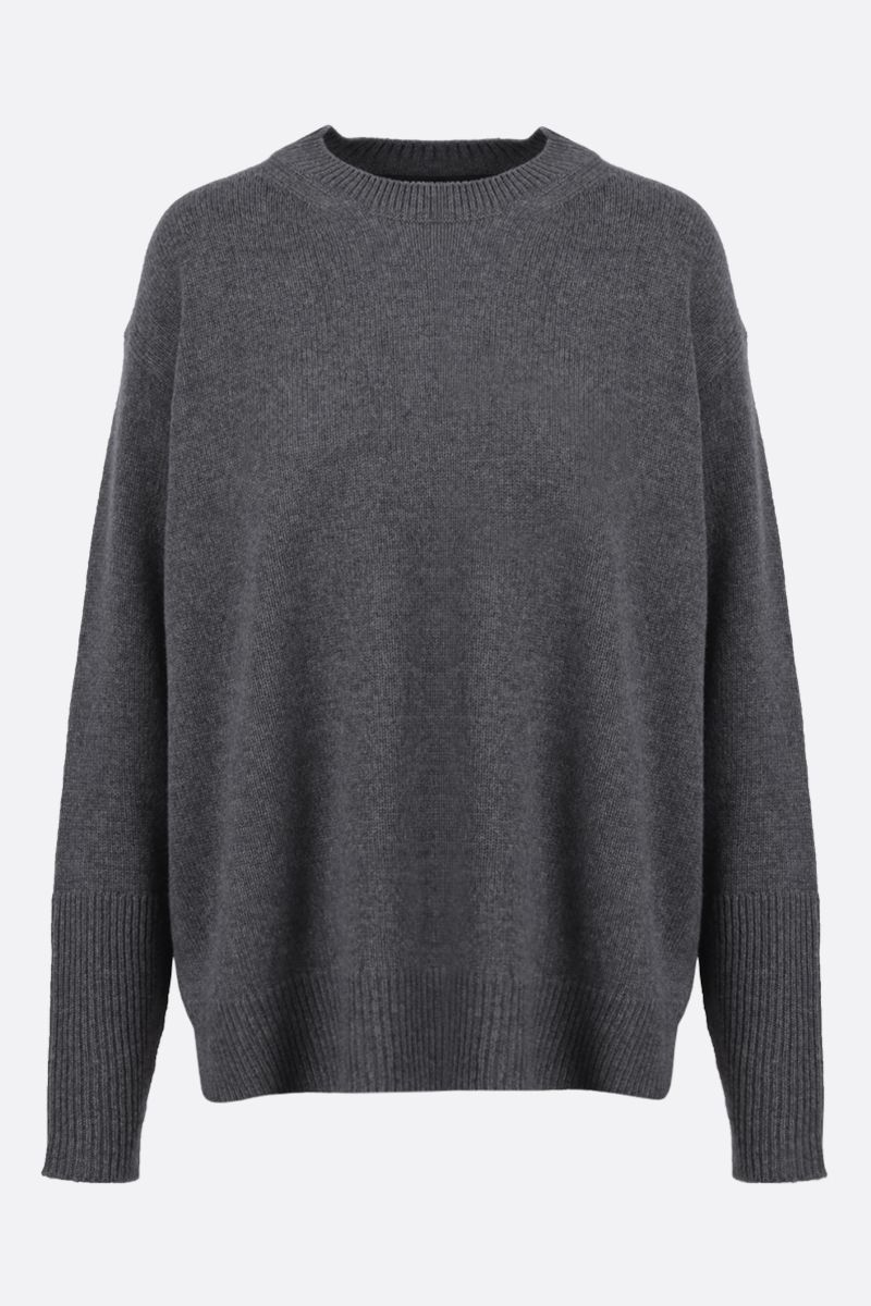 STELLA McCARTNEY: oversize cashmere wool blend pullover Color Grey_1