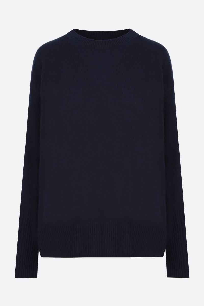 STELLA McCARTNEY: oversize cashmere wool blend pullover Color Black_1