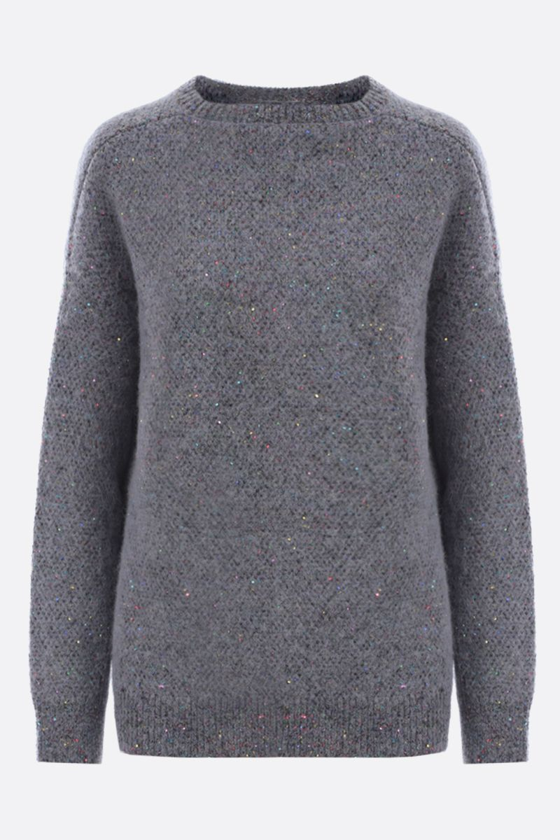 STELLA McCARTNEY: sequinned alpaca blend oversize pullover Color Black_1