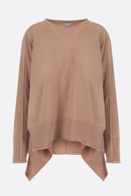 STELLA McCARTNEY: cashmere wool blend asymmetric pullover Color Brown_1