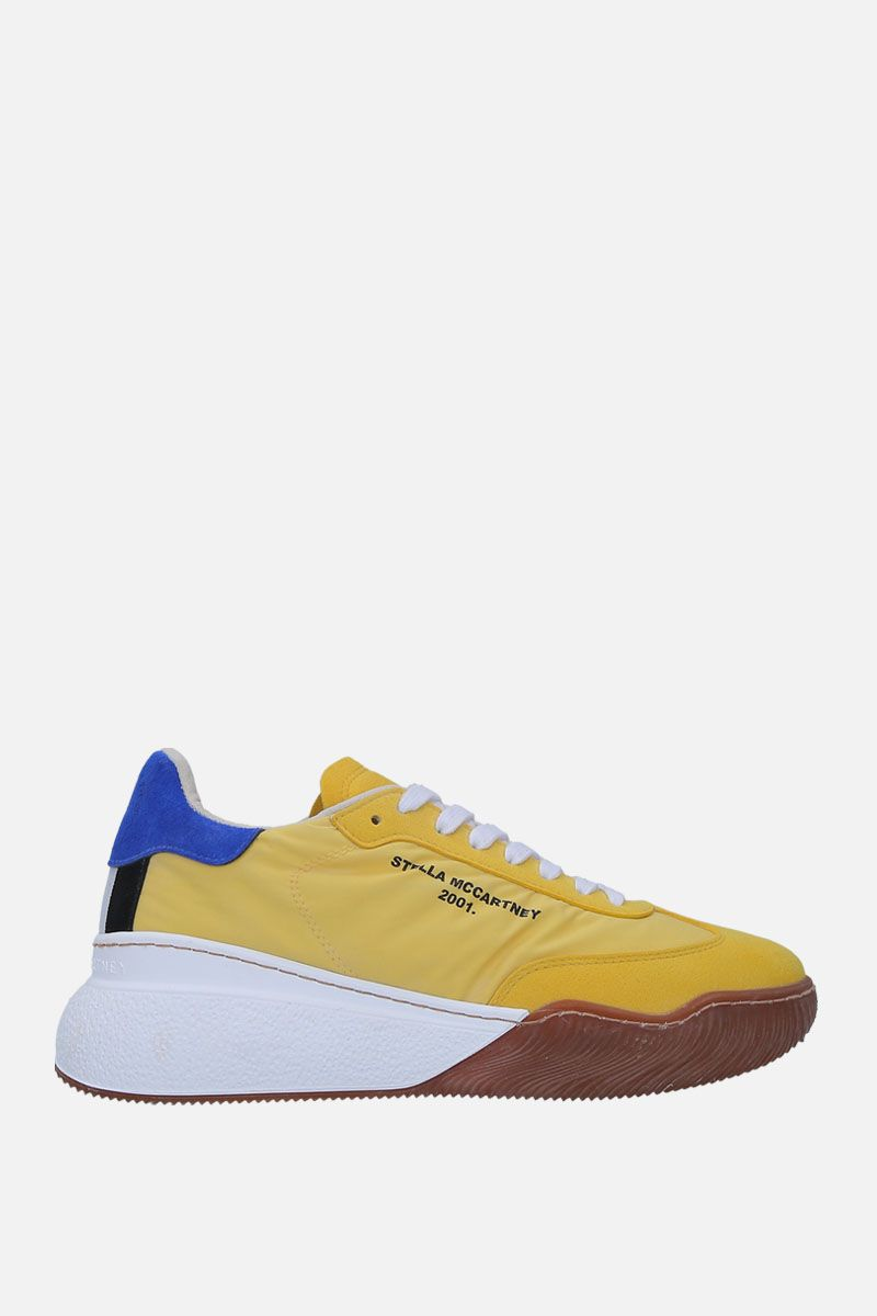 STELLA McCARTNEY: Loop low-top sneakers in nylon and Alter Suede Color Yellow_1