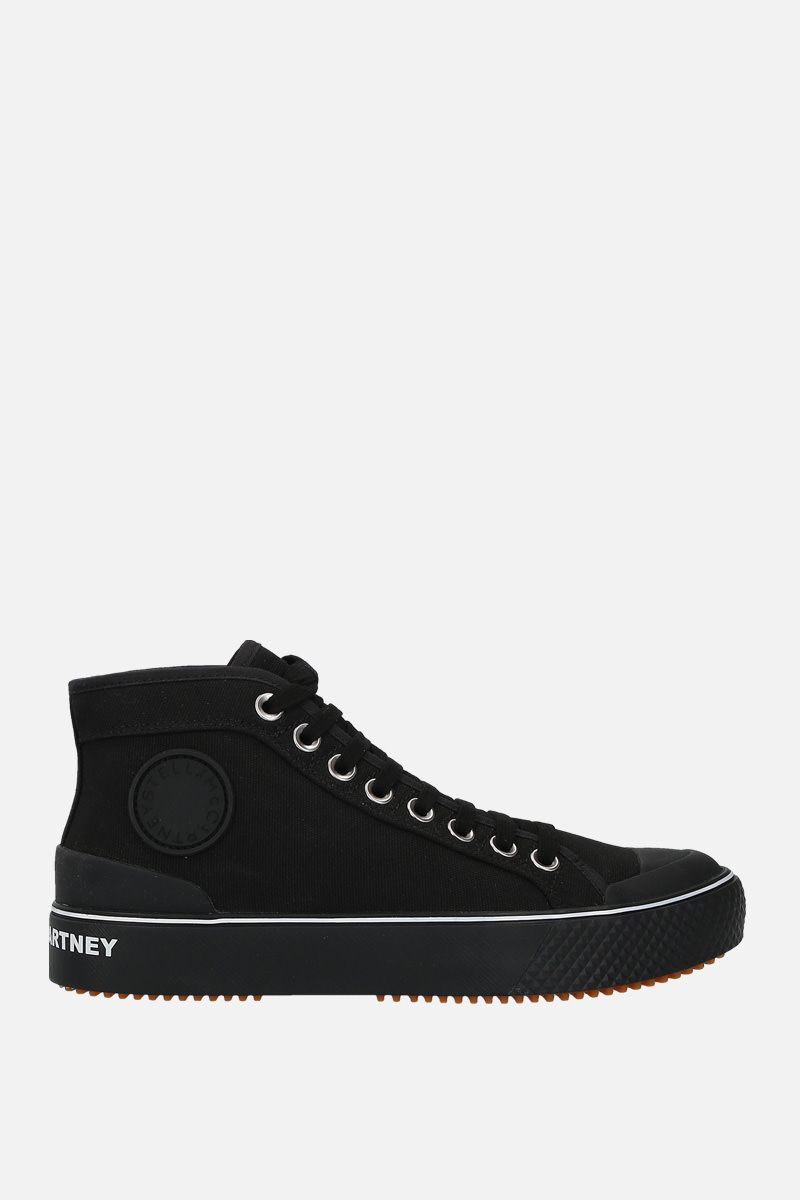 STELLA McCARTNEY: canvas high-top trainers Color Black_1