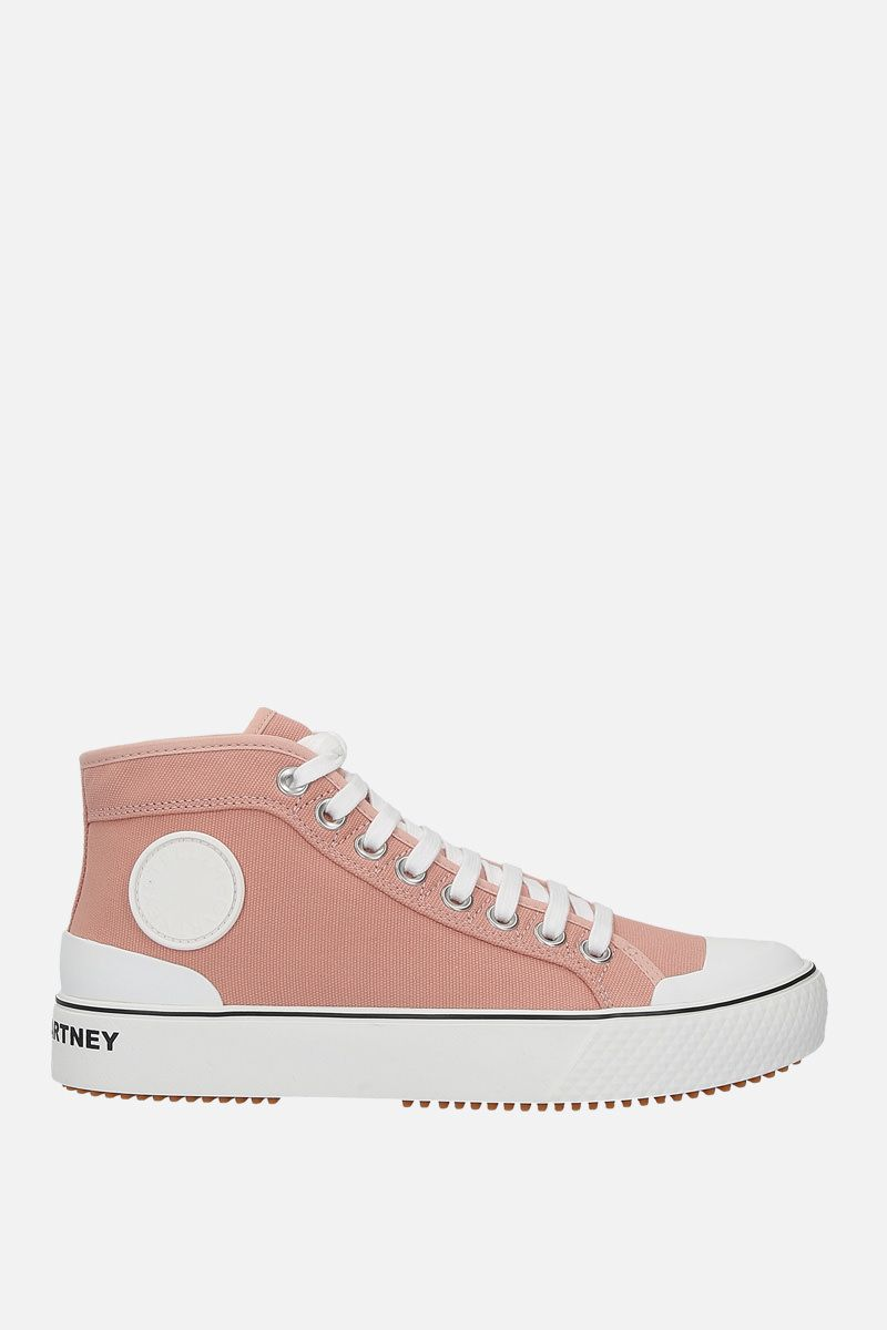 STELLA McCARTNEY: canvas high-top trainers Color Blue_1