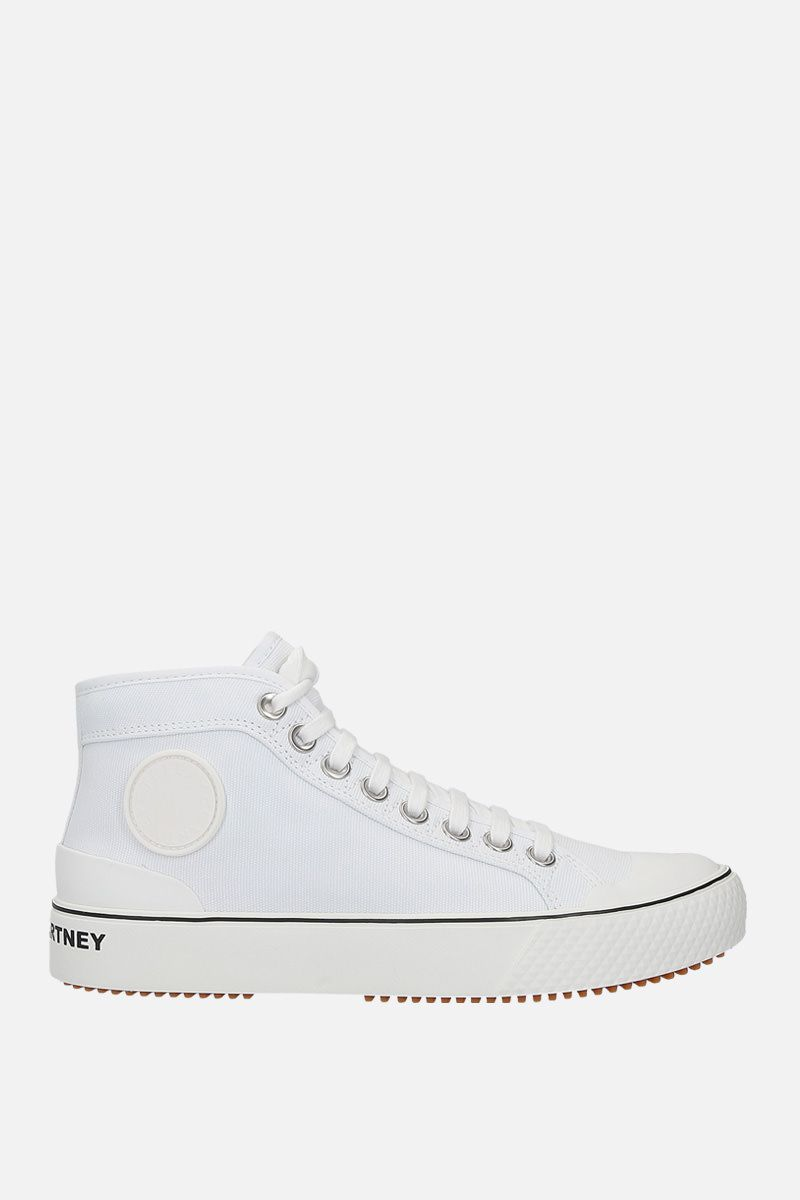 STELLA McCARTNEY: canvas high-top trainers Color White_1