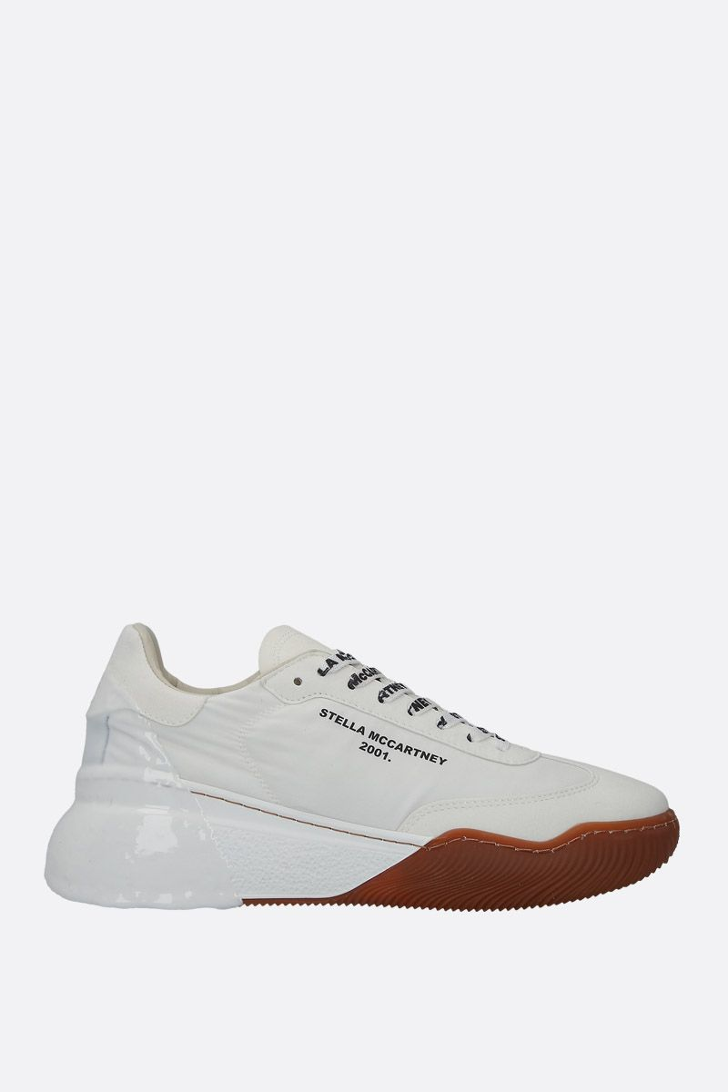 STELLA McCARTNEY: Loop nylon and Alter Suede sneakers Color White_1