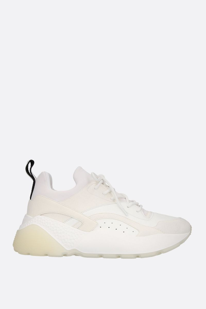 STELLA McCARTNEY: Eclypse sneakers in Alter Nappa and Alter Suede Color White_1