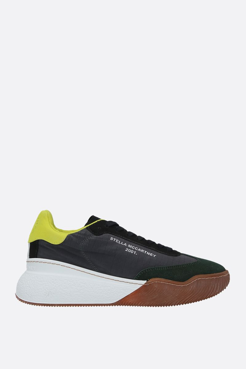 STELLA McCARTNEY: Loop sneakers in nylon and Alter Suede Color Grey_1