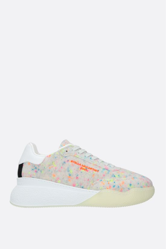 STELLA McCARTNEY: Loop multicolour felt sneakers Color Multicolor_1