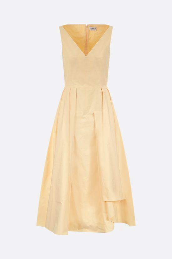 ALEXANDER McQUEEN: poplin midi dress Color Yellow_1