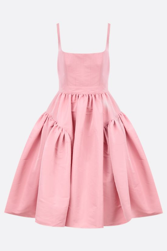 ALEXANDER McQUEEN: polyfaille gathered dress Color Pink_1