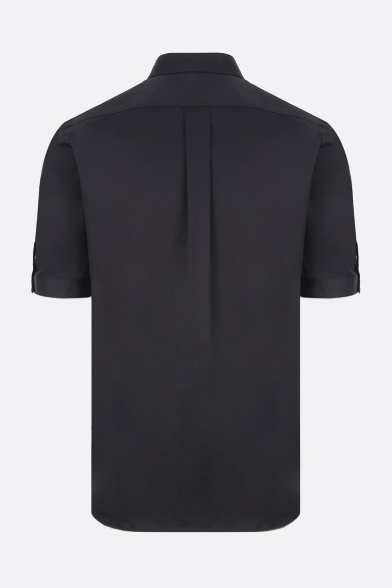 ALEXANDER McQUEEN: short-sleeved shirt in cotton blend Color Black_3