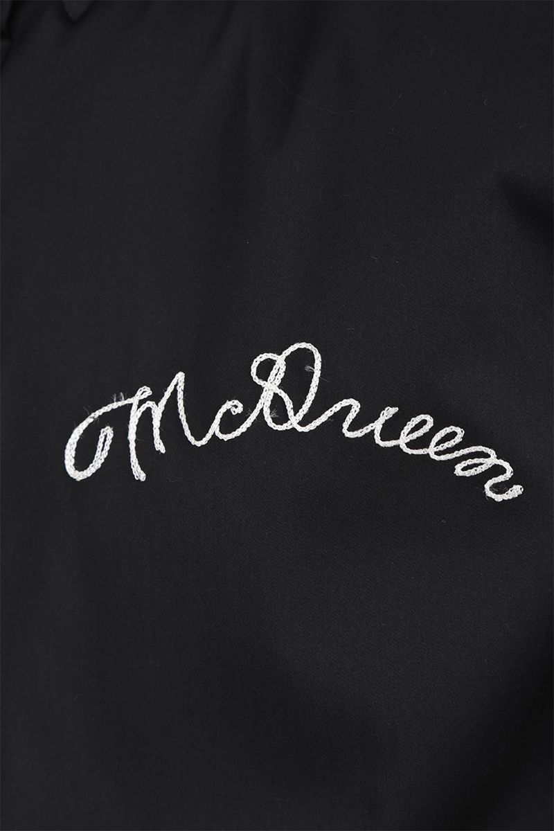 ALEXANDER McQUEEN: short-sleeved shirt in cotton blend Color Black_4
