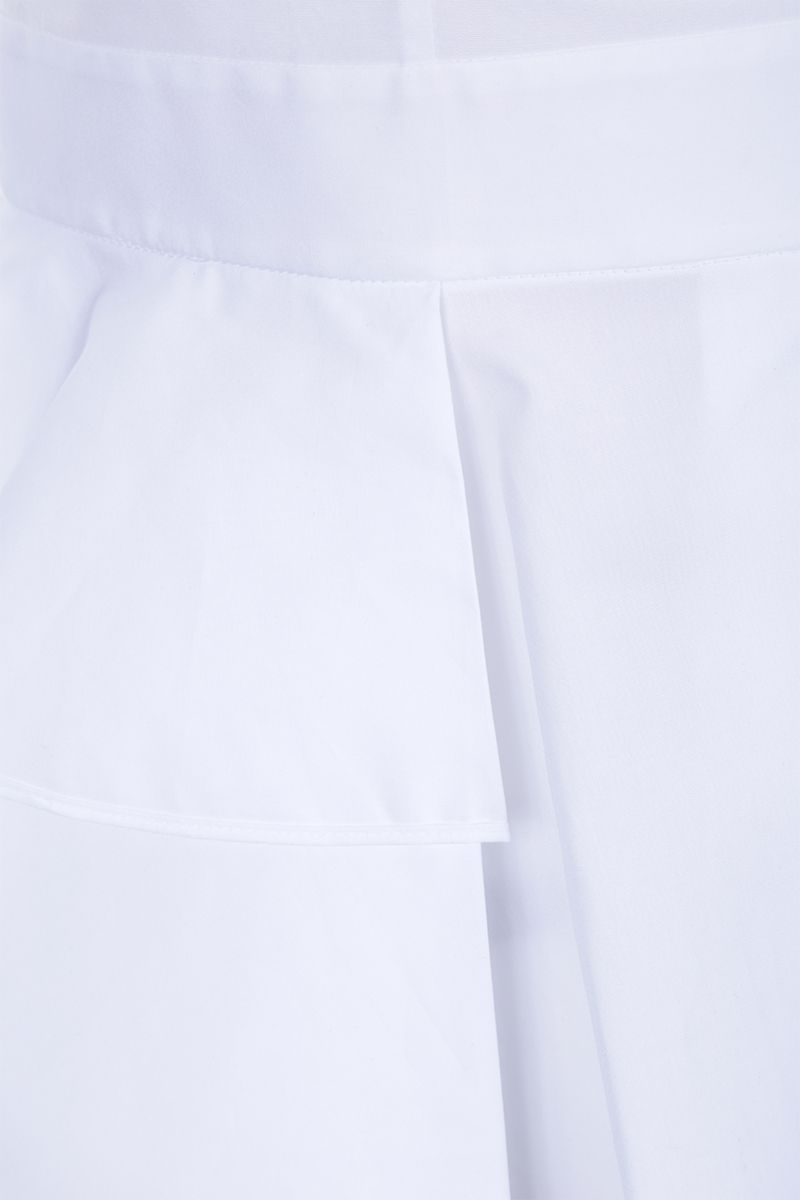ALEXANDER McQUEEN: poplin sleeveless shirt with frills Color White_3