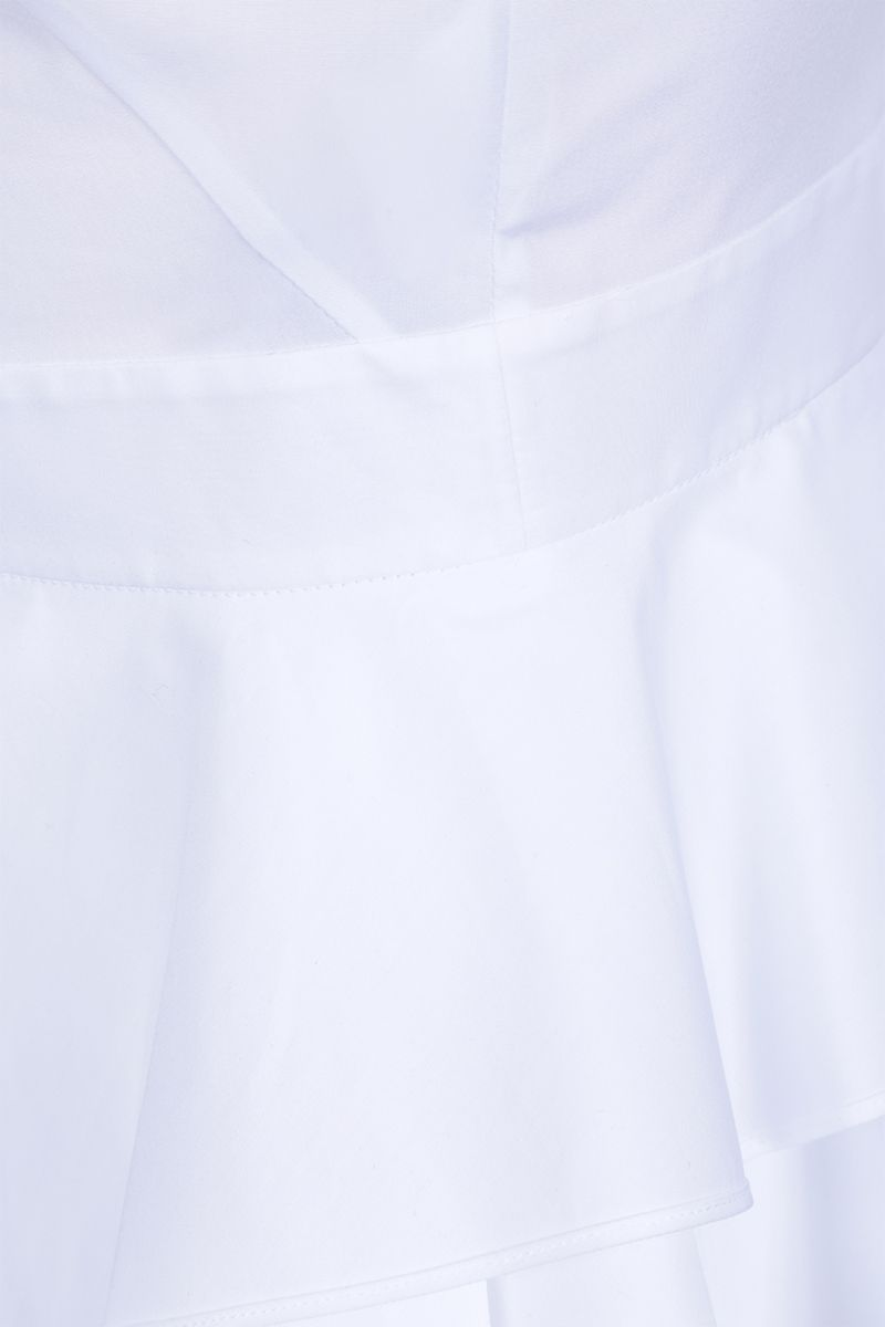 ALEXANDER McQUEEN: poplin sleeveless shirt with frills Color White_4