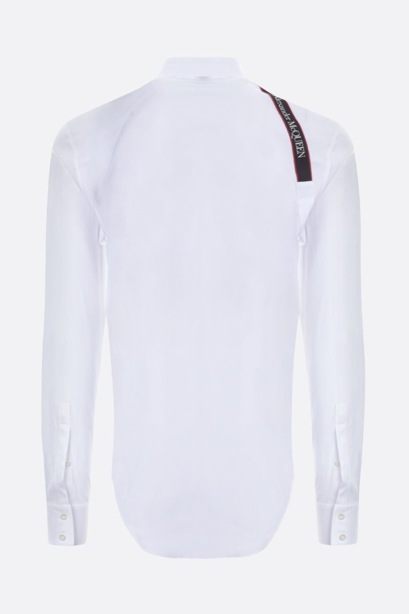 ALEXANDER McQUEEN: Harness stretch cotton shirt Color White_2