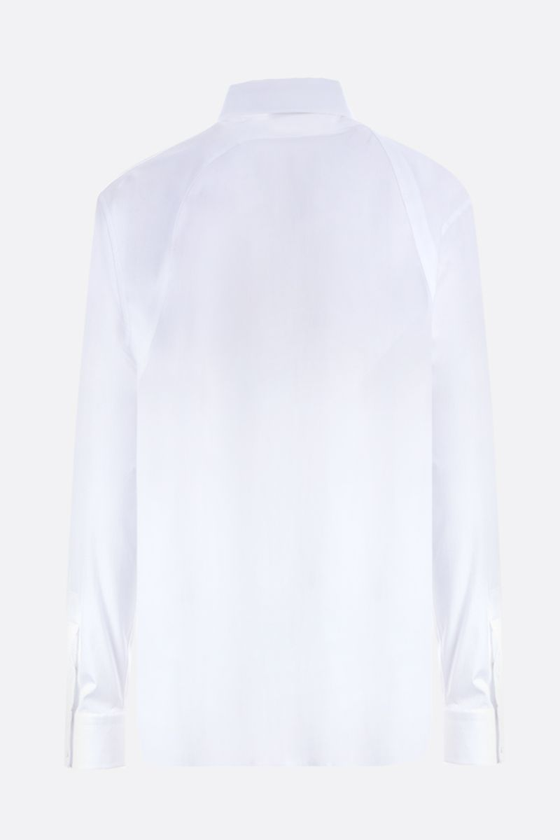 ALEXANDER McQUEEN: harness-detailed stretch poplin shirt Color White_2