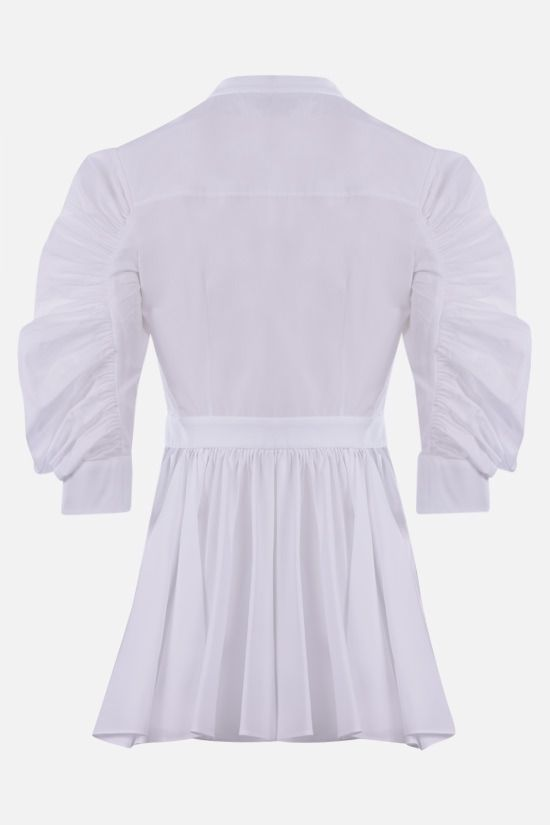 ALEXANDER McQUEEN: peplum hem-detailed cotton shirt Color White_2