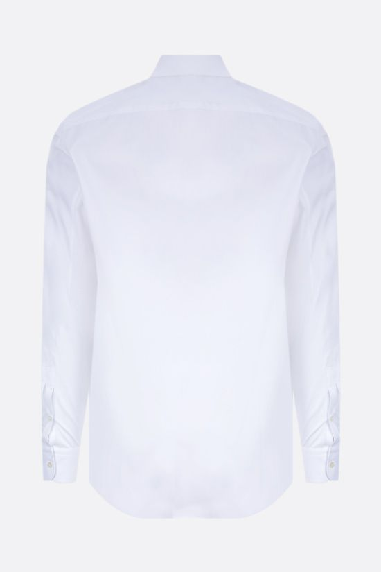 ALEXANDER McQUEEN: Punk Skull print cotton shirt Color White_2