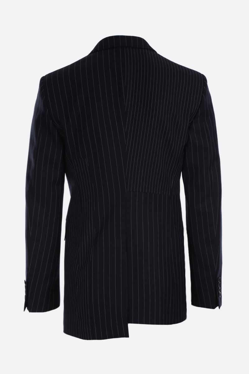 ALEXANDER McQUEEN: pinstriped wool double-breasted jacket Color Multicolor_2
