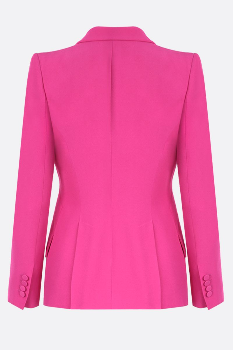 ALEXANDER McQUEEN: crepe single-breasted jacket Color Pink_2