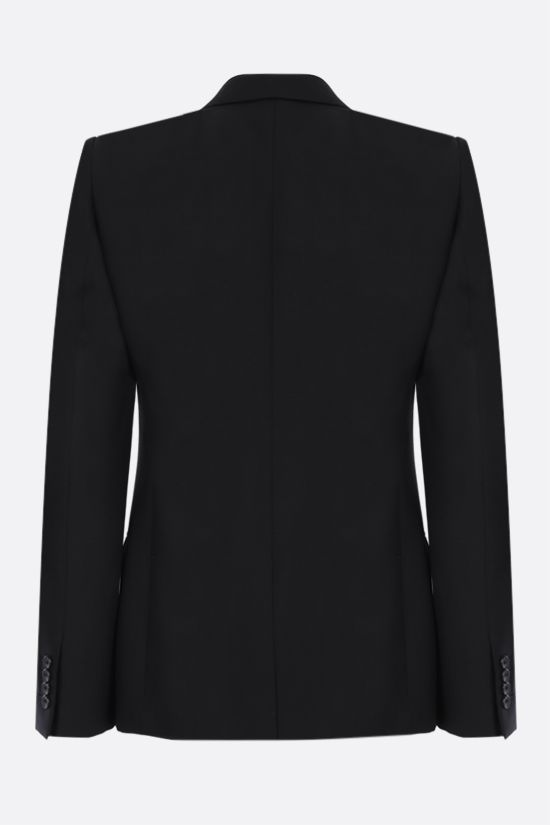 ALEXANDER McQUEEN: single-breasted wool mohair blend jacket Color Black_2