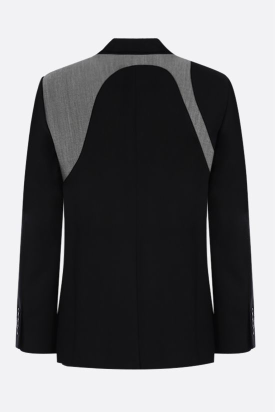 ALEXANDER McQUEEN: harness-detailed single-breasted wool jacket Color Black_2