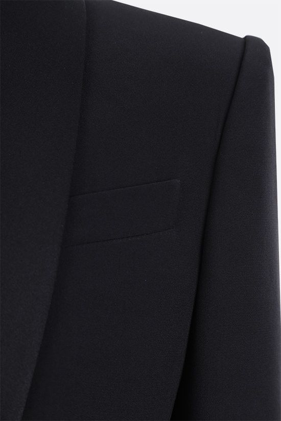 ALEXANDER McQUEEN: single-breasted cady and satin jacket Color Black_4