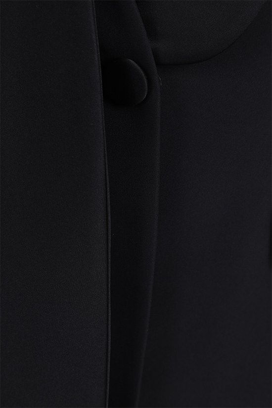 ALEXANDER McQUEEN: single-breasted cady and satin jacket Color Black_5