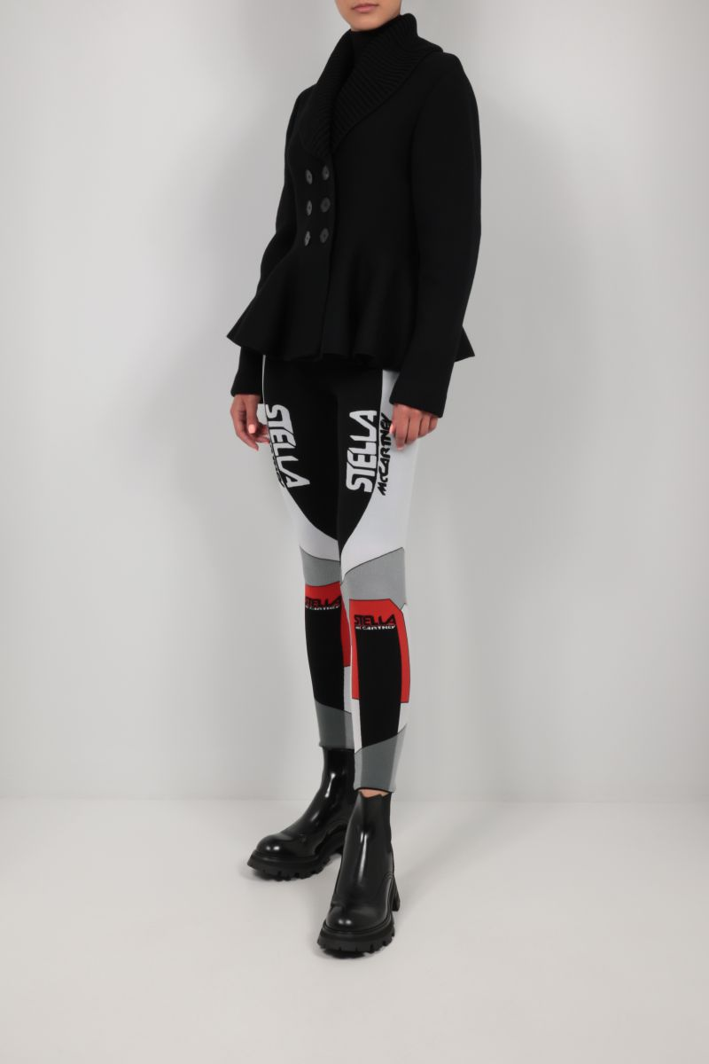 ALEXANDER McQUEEN: double-breasted knit jacket Color Black_2