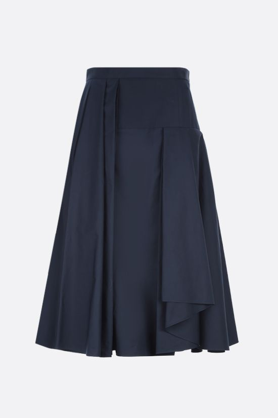ALEXANDER McQUEEN: poplin darted midi skirt Color Blue_1