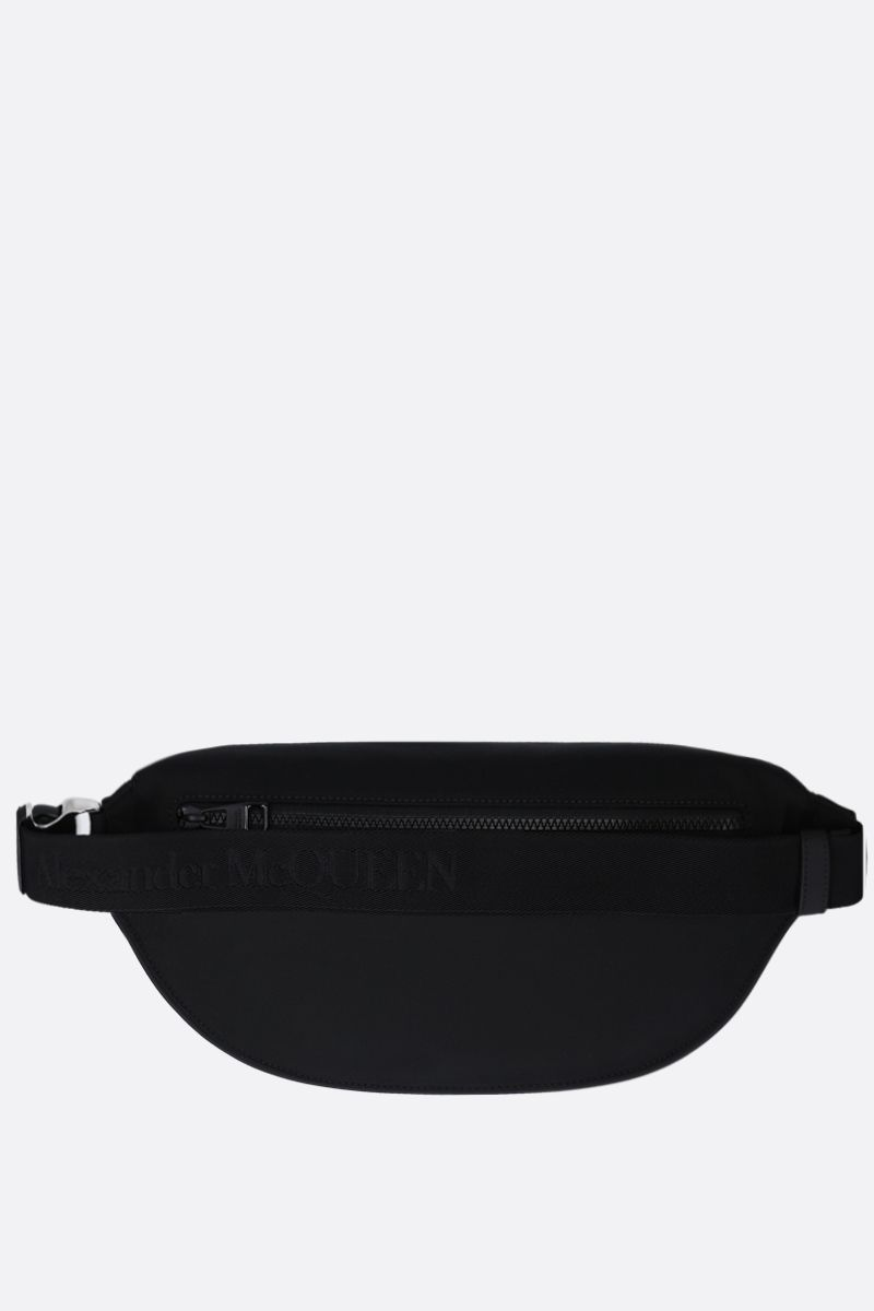 ALEXANDER McQUEEN: oversize Harness belt bag in nylon Color Black_4
