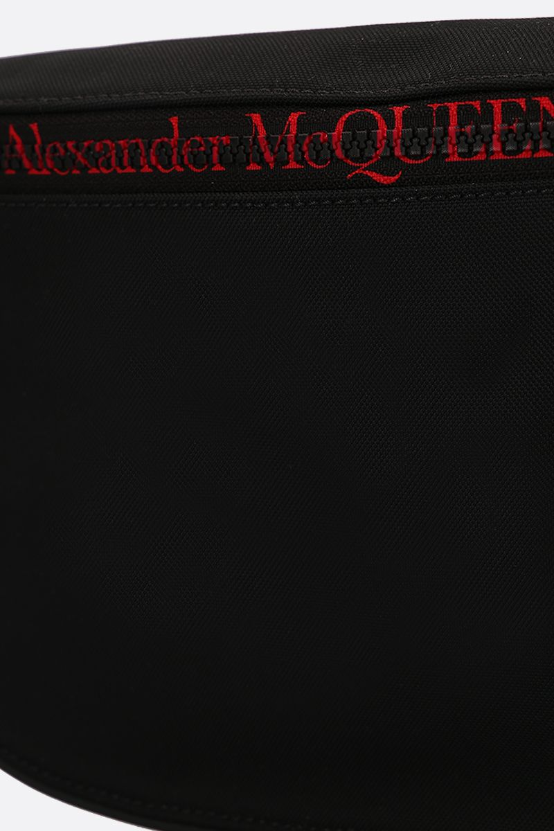 ALEXANDER McQUEEN: oversize Harness belt bag in nylon Color Black_5