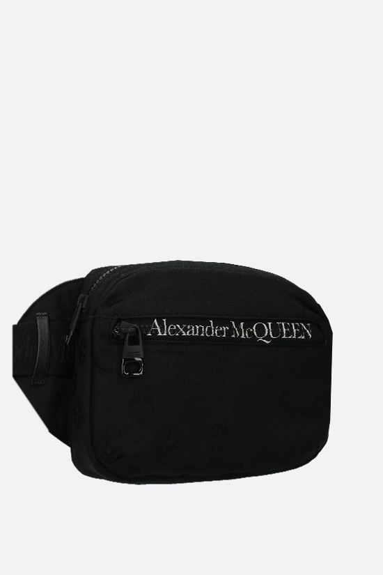ALEXANDER McQUEEN: Urban nylon belt bag Color Black_2