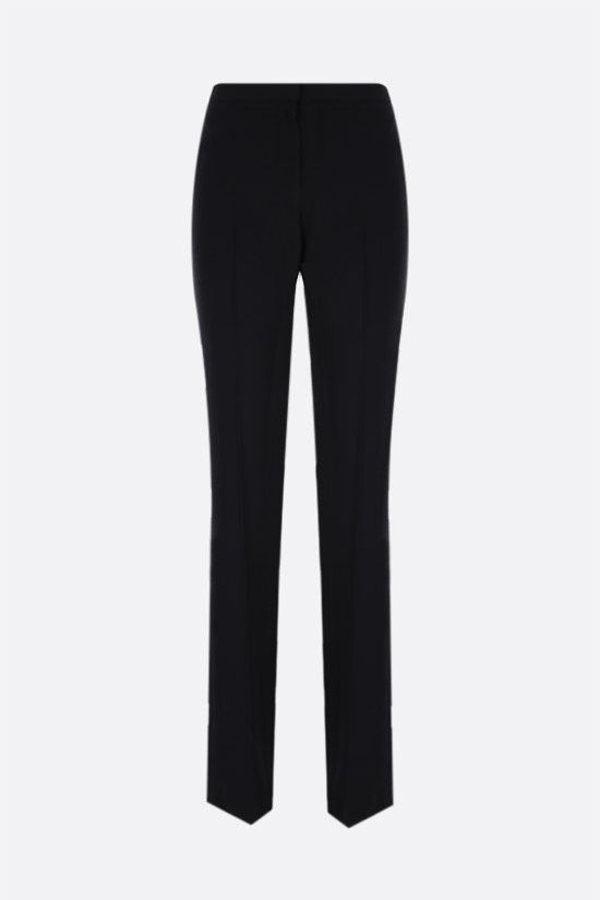 ALEXANDER McQUEEN: straight-fit stretch cady pants Color Black_1