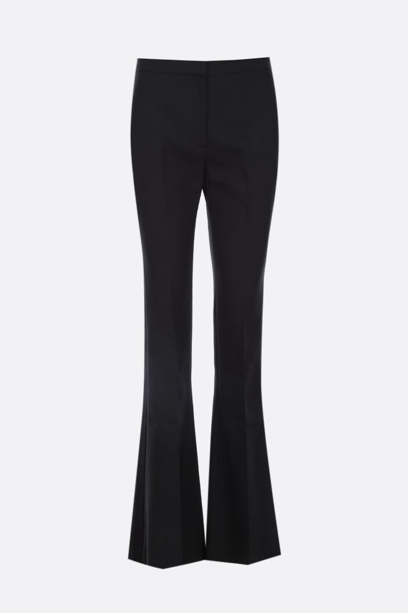 ALEXANDER McQUEEN: silk and lightweight wool texudo pants Color Black_1