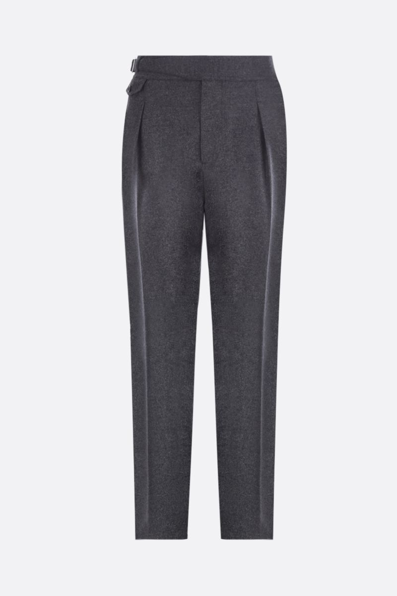 ALEXANDER McQUEEN: wool darted pants Color Black_1
