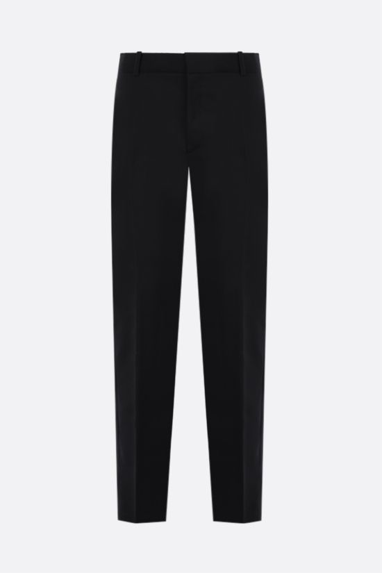 ALEXANDER McQUEEN: wool tuxedo pants Color Black_1