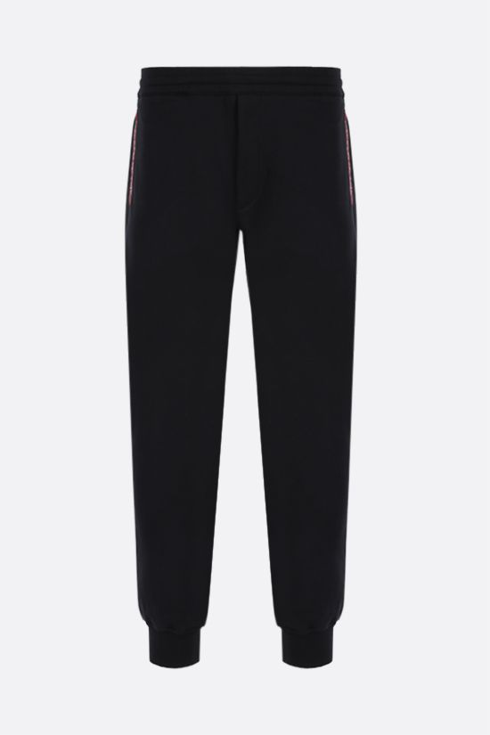 ALEXANDER McQUEEN: logo-detailed cotton joggers Color Black_1