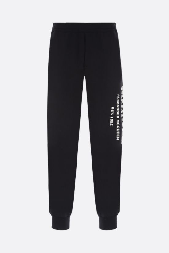 ALEXANDER McQUEEN: McQueen Graffiti cotton joggers Color Black_1