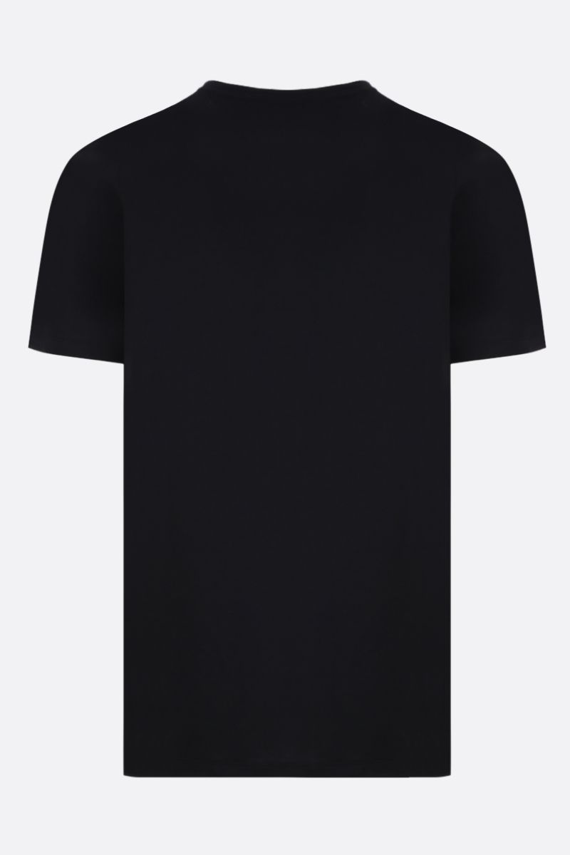 ALEXANDER McQUEEN: Ivy Skull cotton t-shirt Color Black_2