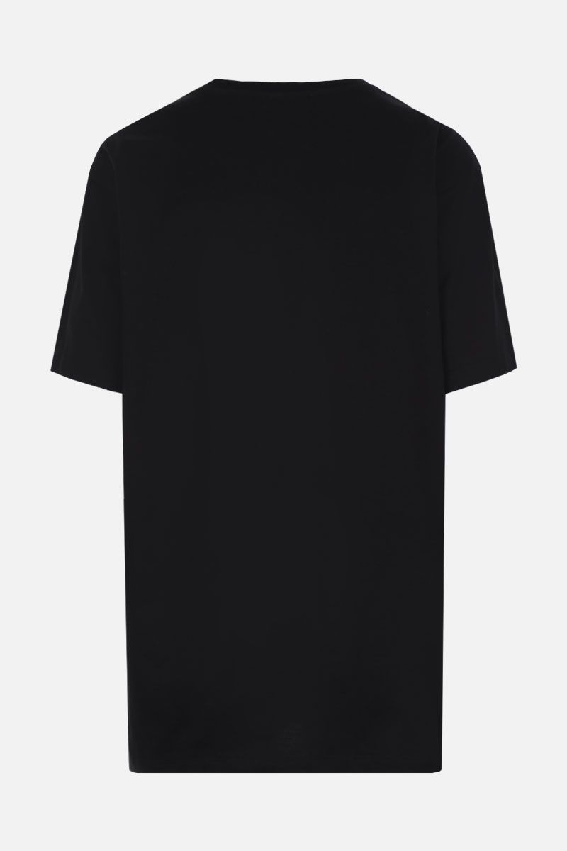 ALEXANDER McQUEEN: rose-embellished cotton t-shirt Color Black_2