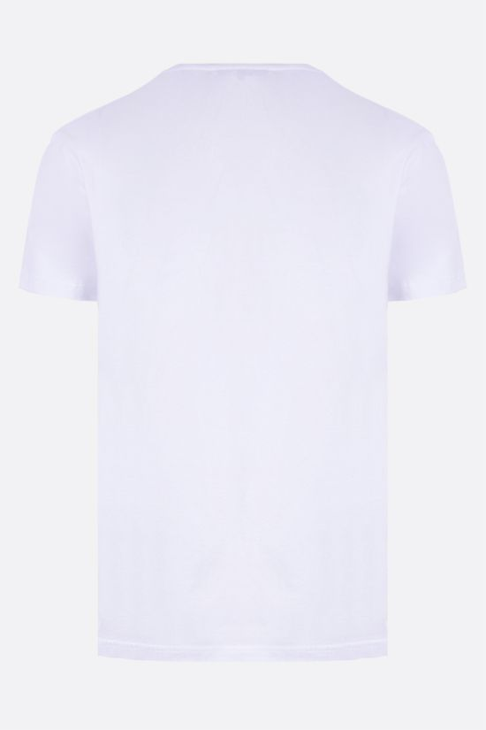 ALEXANDER McQUEEN: Skull graphic print cotton t-shirt Color White_2
