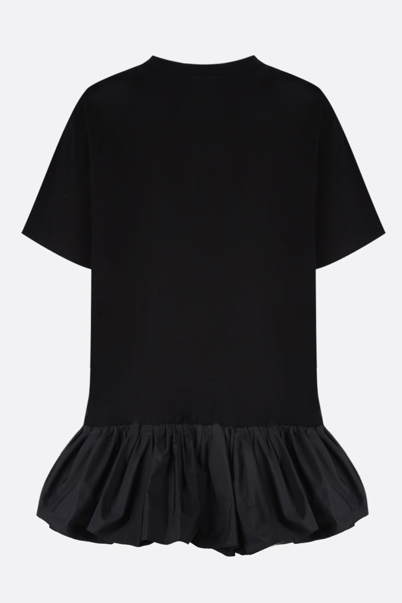 ALEXANDER McQUEEN: taffetà flounce-detailed cotton t-shirt Color Black_2