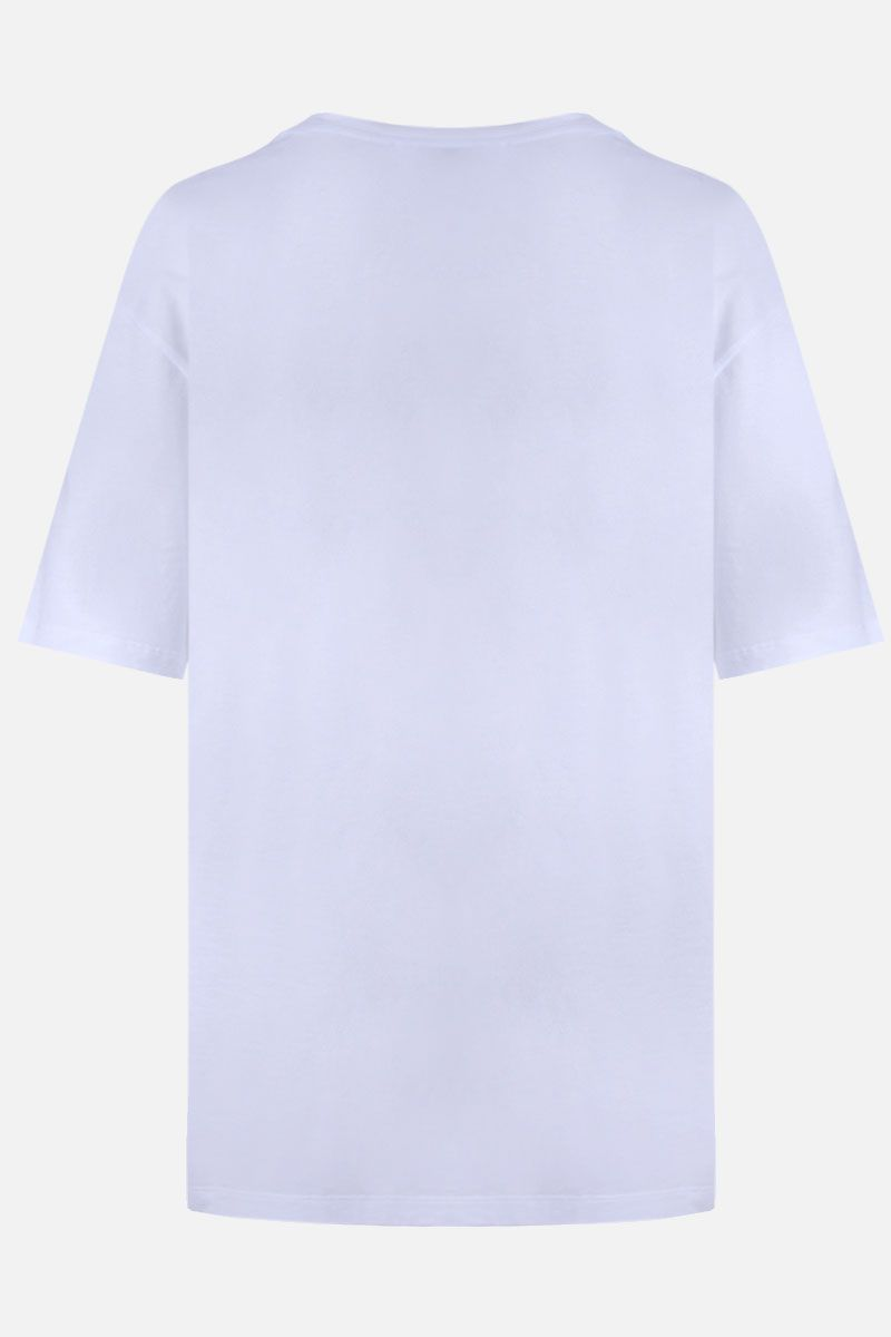 ALEXANDER McQUEEN: heart print cotton oversize t-shirt Color White_2