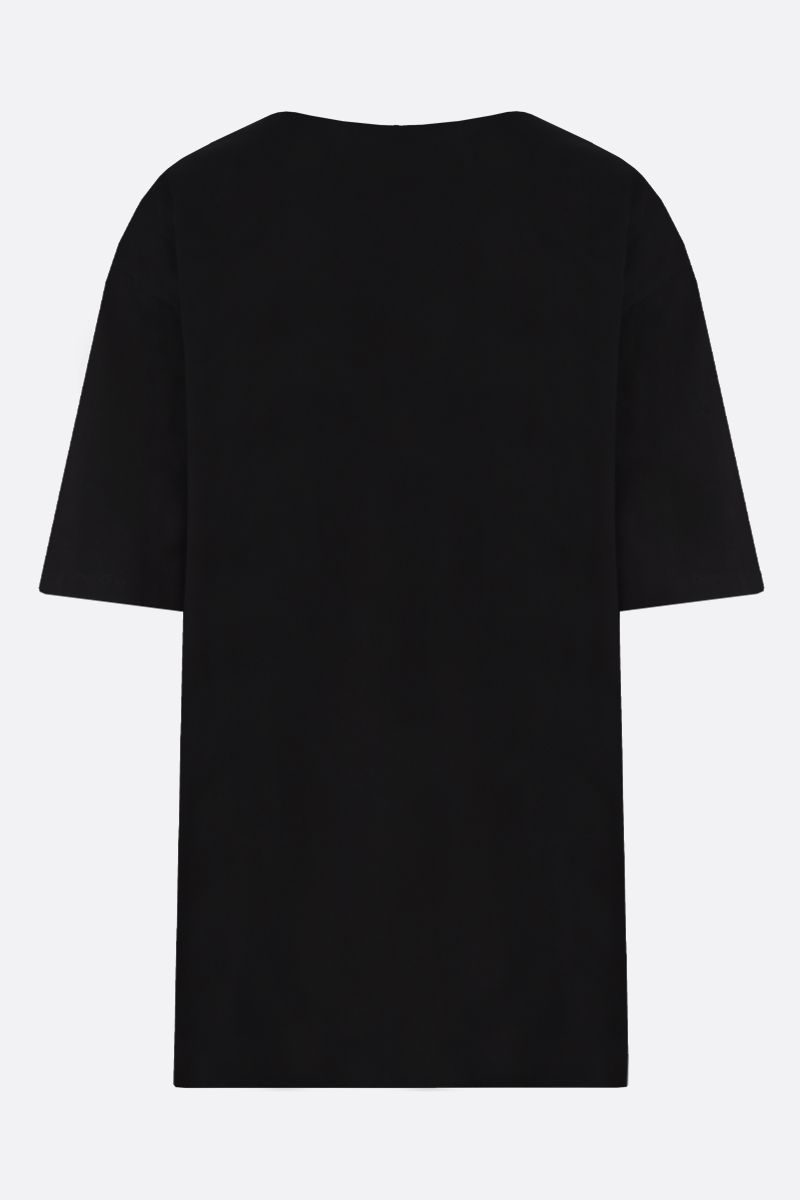 ALEXANDER McQUEEN: heart print cotton oversize t-shirt Color Black_2
