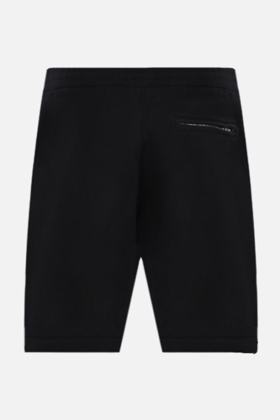ALEXANDER McQUEEN: logoed band-detailed cotton shorts Color Black_2
