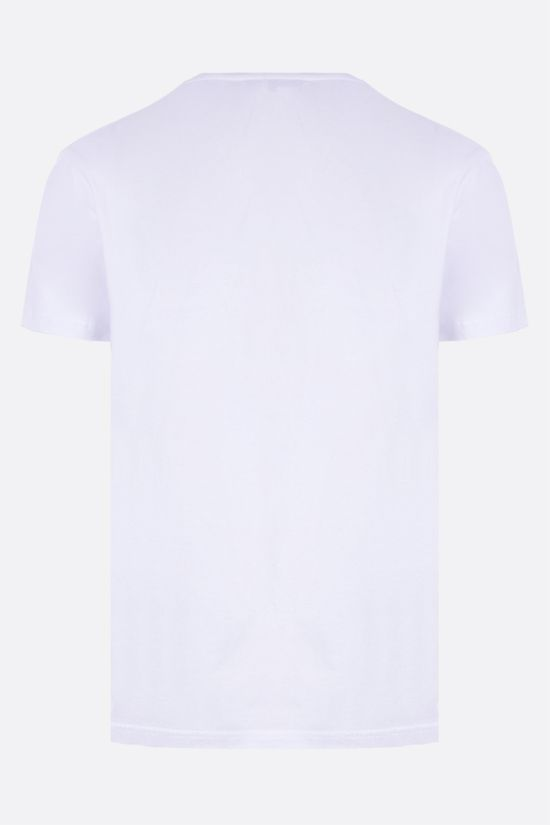 ALEXANDER McQUEEN: McQueen embroidered cotton t-shirt Color White_2