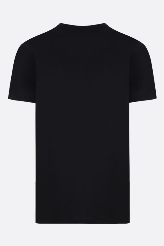 ALEXANDER McQUEEN: McQueen embroidered cotton t-shirt Color Black_2