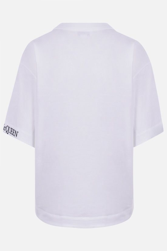 ALEXANDER McQUEEN: Alexander McQueen cropped cotton t-shirt Color White_2