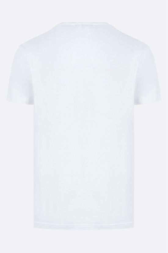 ALEXANDER McQUEEN: AMQ print cotton t-shirt Color White_2